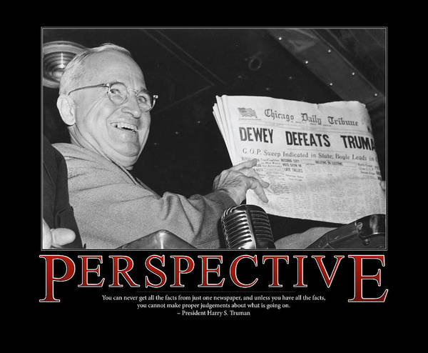 Wall Art - Photograph - President Harry S. Truman Perspective  by Retro Images Archive