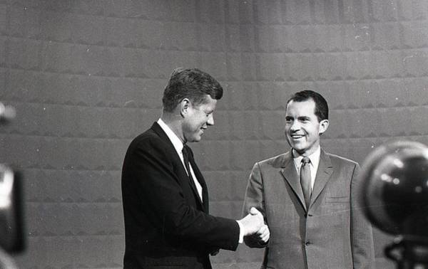 Wall Art - Photograph - President John Kennedy And President Richard Nixon In The 1960 Debate by Retro Images Archive