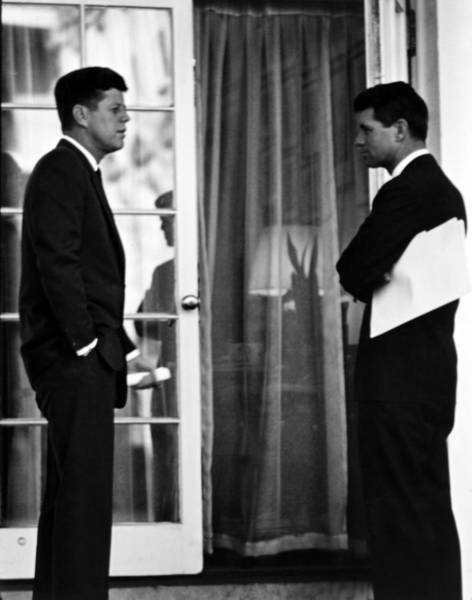 President Photograph - President John Kennedy And Robert Kennedy by War Is Hell Store