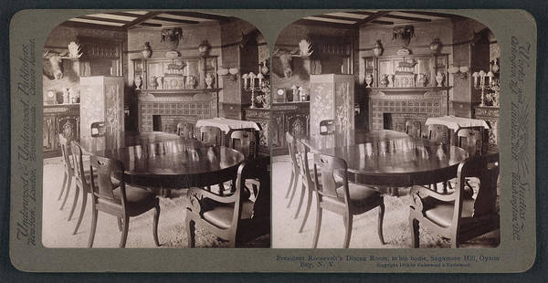 Sagamore Wall Art - Drawing - President Roosevelts Dining Room, In His Home by Litz Collection