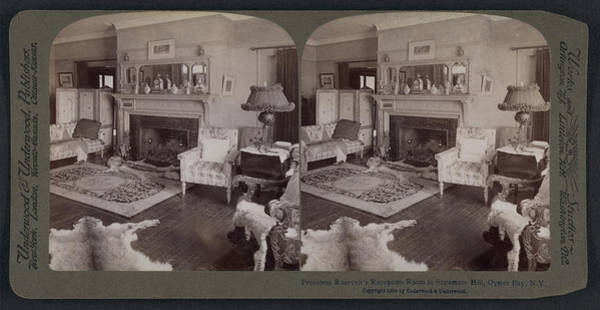 Sagamore Wall Art - Drawing - President Roosevelts Reception Room At Sagamore Hill by Litz Collection