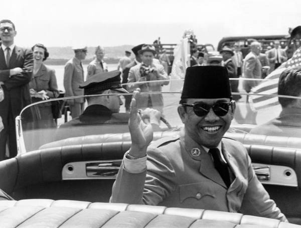 Procession Photograph - President Sukarno Of Indonesia by Warren Leffler