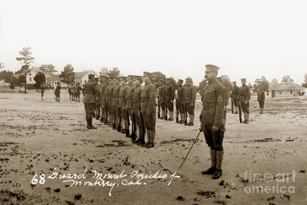 Photograph - Presidio Of Monterey Rifle Inspection Circa 1915 by California Views Archives Mr Pat Hathaway Archives