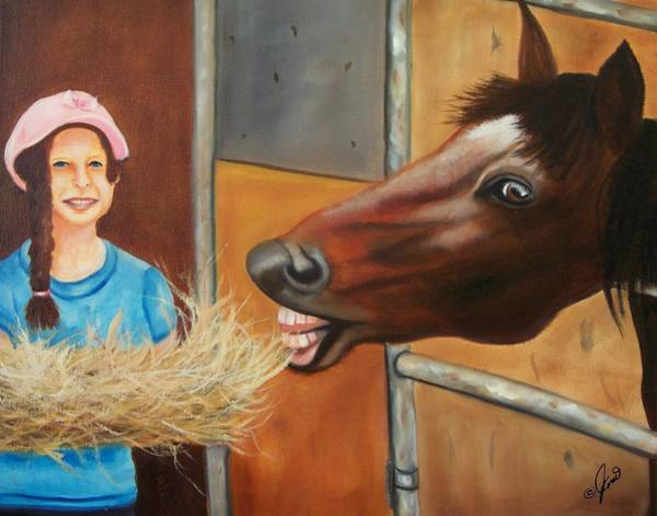 Painting - Presley And Friend  by Joni McPherson