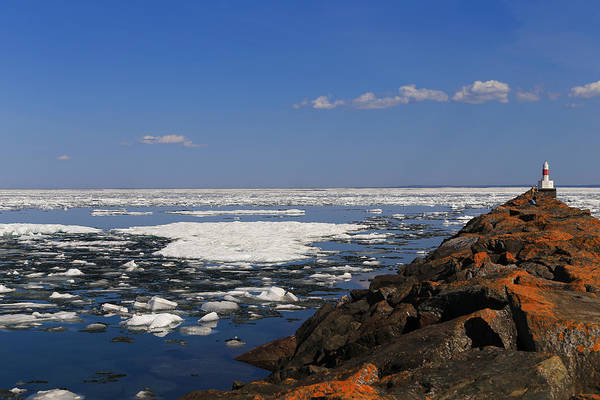 Photograph - Presque Isle Harbor On Ice by Rachel Cohen