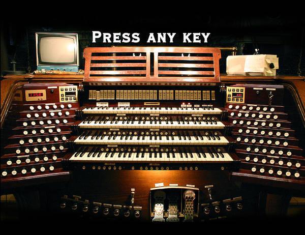 Photograph - Press Any Key by Jenny Setchell