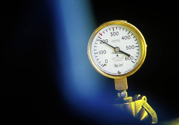 Gauge Photograph - Pressure Gauge by Ton Kinsbergen/science Photo Library