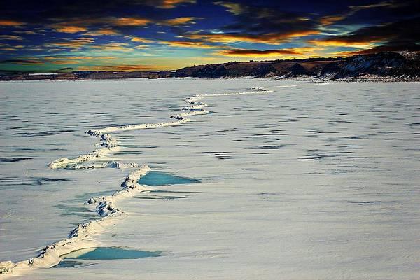 Christy Photograph - Pressure Ridge On Lake Sakakawea by Christy Patino