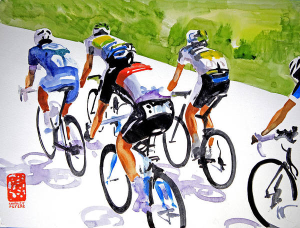 Le Tour De France Wall Art - Painting - Pressures Off by Shirley  Peters