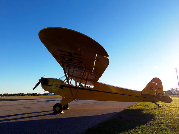 Lock Haven Wall Art - Photograph - Preston Aviation Piper Cub 002 by Chris Mercer
