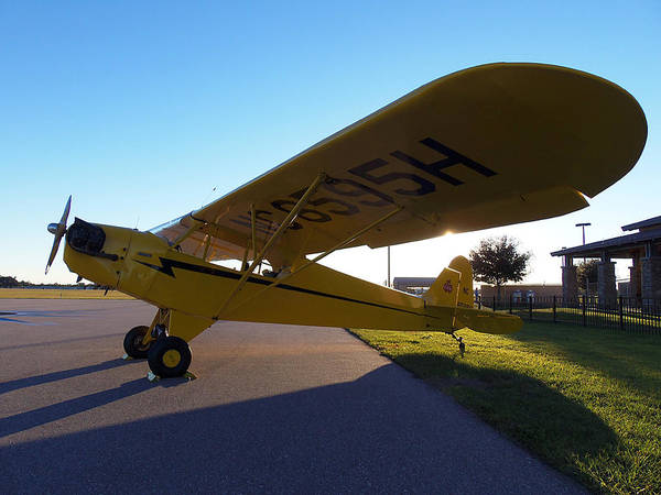 Lock Haven Wall Art - Photograph - Preston Aviation Piper Cub 003a   by Chris Mercer