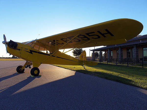 Lock Haven Wall Art - Photograph - Preston Aviation Piper Cub 004 by Chris Mercer