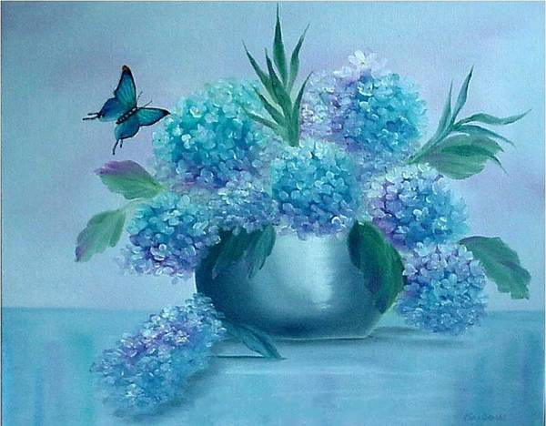 Painting - Pretty In Blue by Fran Brooks