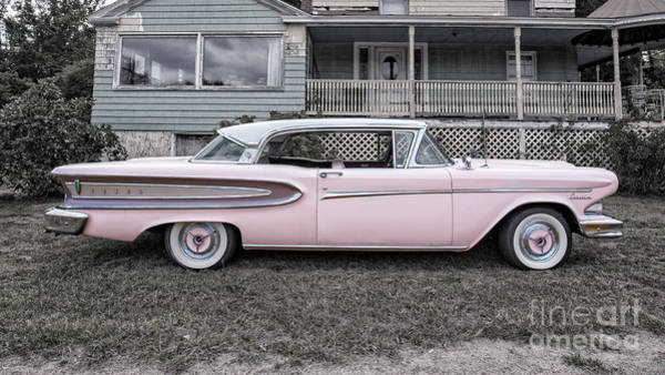 Edsel Photograph - Pretty In Pink Ford Edsel by Edward Fielding