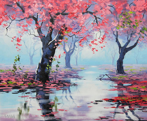 Blossom Painting - Pretty In Pink by Graham Gercken