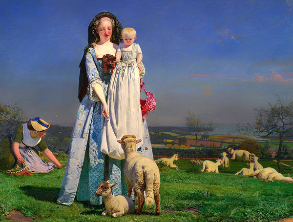 Pulling Painting - Pretty Lambs by Mountain Dreams
