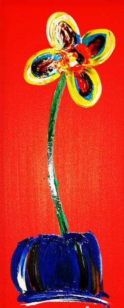 Interior Wall Art - Painting - Pretty Little Flower - Edition 3 by Mac Worthington