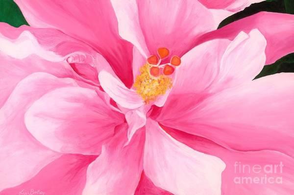 Dancing Hibiscus Painting Art Print