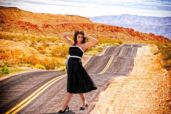 Photograph - Pretty Woman On Bumpy Road by Les Palenik