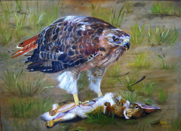 Wall Art - Painting - Prey by Karen Langley