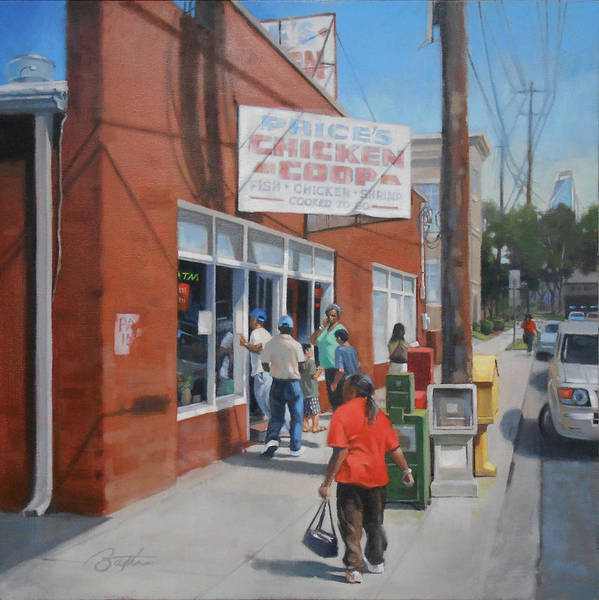 Charlotte Nc Wall Art - Painting - Price's Chicken Coop by Todd Baxter
