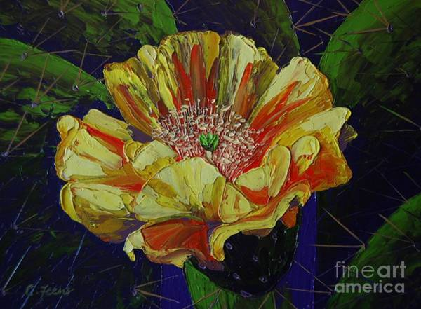 Painting - Prickly Flower by Cheryl Fecht