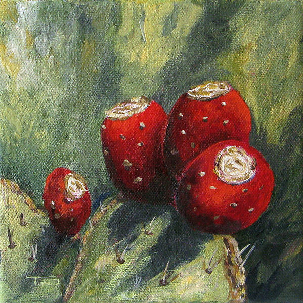 Wall Art - Painting - Prickly Pear Cactus II by Torrie Smiley
