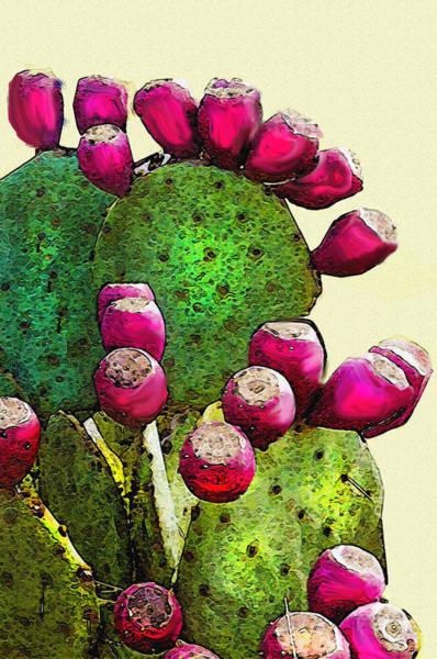Desert Southwest Digital Art - Prickly Pear Cactus by Jane Schnetlage