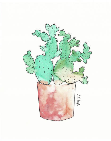 Wall Art - Painting - Prickly Pear by Elise Engh