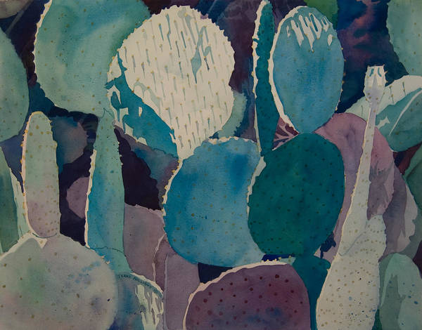 Painting - Prickly Pear by Terry Holliday