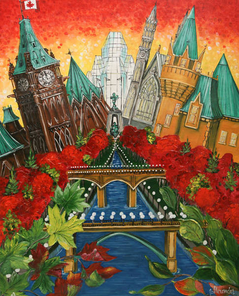 Wall Art - Painting - Pride Of Ottawa Autumn Red by Jill Alexander