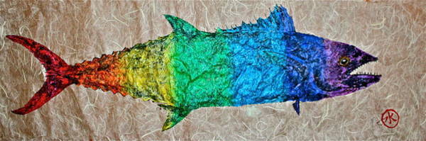 Provincetown Mixed Media - Prideful Mackerel - P-town - Spectrum by Jeffrey Canha