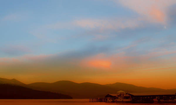 Photograph - Priest Lake At Dusk by David Patterson