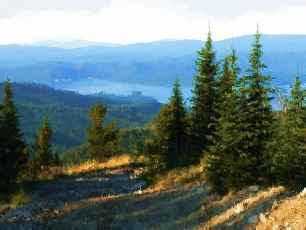 Pine Valley Digital Art - Priest Lake Trail by Debra Baldwin