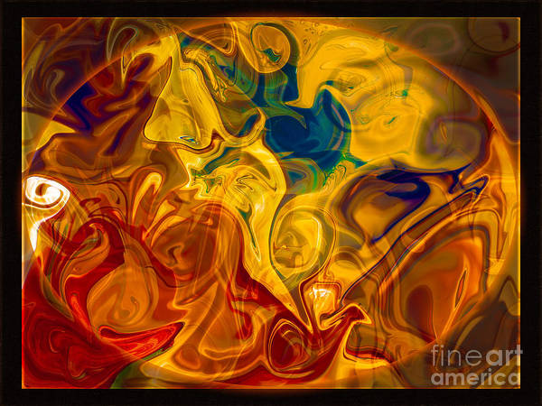 Digital Art - Primal Awareness Abstract Healing Art by Omaste Witkowski