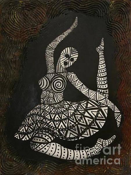 Primal Painting - Primal Dancer Origin by Kristen R Kennedy