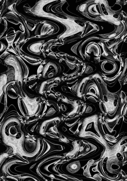 Organic Abstraction Drawing - Primal Flux by Helena Tiainen