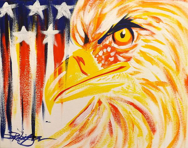 Painting - Primary Eagle by Darren Robinson