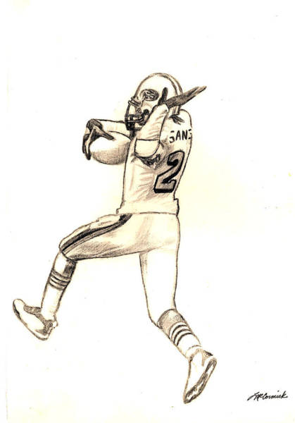 Super Bowl Drawing - Prime Time by Lee McCormick
