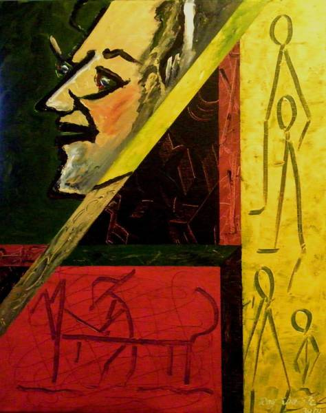 Painting - Primitive Art by Ray Khalife