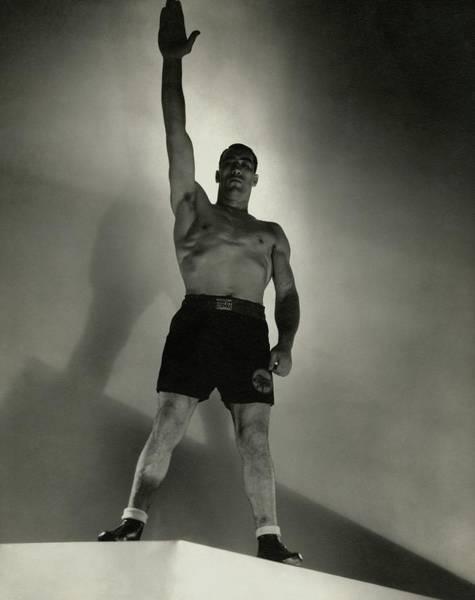 Photograph - Primo Carnera Saluting by Edward Steichen