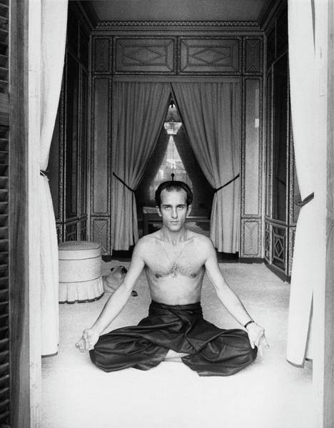 Exercise Photograph - Prince Alessandro Ruspoli Doing Yoga by Henry Clarke