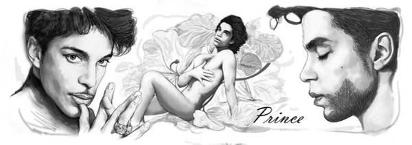 Prince Rogers Nelson Wall Art - Drawing - Prince Drawing Art Sketch Poster by Kim Wang