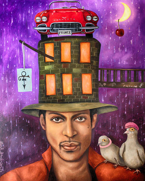 Prince Rogers Nelson Wall Art - Painting - Prince Edit 2 by Leah Saulnier The Painting Maniac