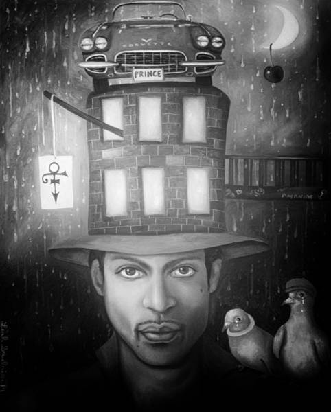 Prince Rogers Nelson Wall Art - Painting - Prince Edit 4 by Leah Saulnier The Painting Maniac