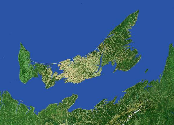 Atlantic Canada Wall Art - Photograph - Prince Edward Island by Worldsat International/science Photo Library
