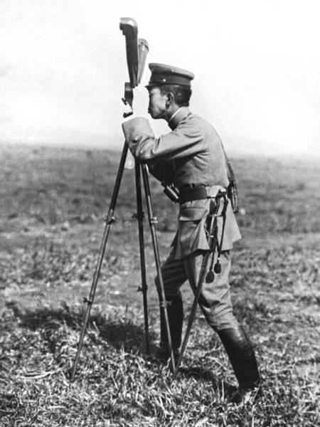 Lenses Photograph - Prince Hirohito Studies Army by Underwood Archives