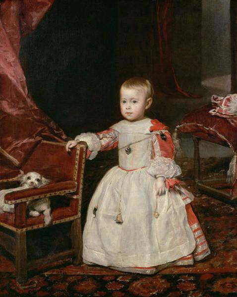 Infant Photograph - Prince Philip Prosper 1657-61, 1659 Oil On Canvas by Diego Rodriguez de Silva y Velazquez
