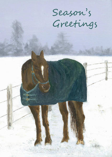 Painting - Prince Seasons Greetings by Laurel Best
