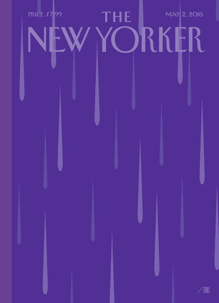 Death Painting - Purple Rain by Bob Staake